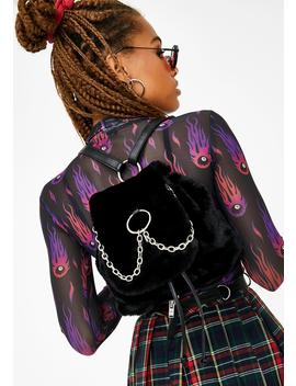 No Recess Faux Fur Backpack by Current Mood