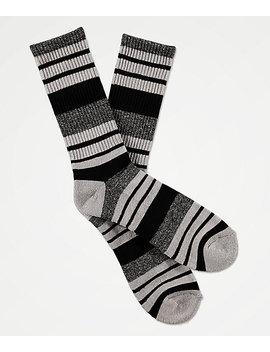 Zine Street Black & Marbled Grey Crew Socks by Zine