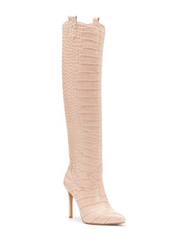 Kervana Embossed Croco Western Boots by Vince Camuto