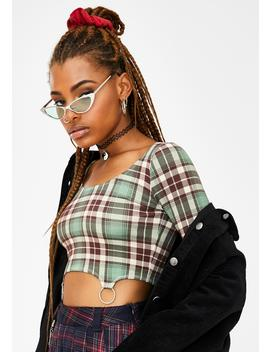 Kush Cruel Intentions O Ring Crop Top by Current Mood
