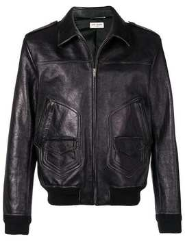 Zipped Leather Jacket by Saint Laurent