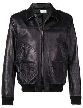 Zipped Leather Jacket by Saint Laurent