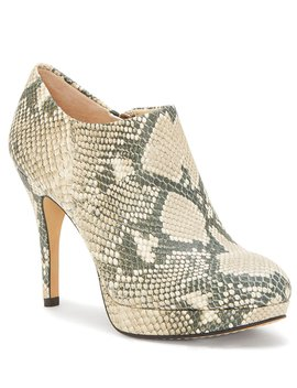Elvin Snake Print Leather Platform Shooties by Vince Camuto