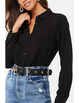 Semi Sheer Button Front Shirt by Forever 21