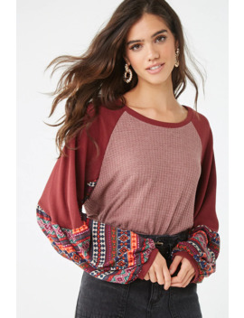 Geo Print Sleeve Top by Forever 21
