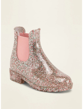 Glitter Chelsea Rain Boots For Toddler Girls by Old Navy