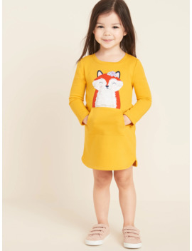 Fox Critter Sweatshirt Dress For Toddler Girls by Old Navy