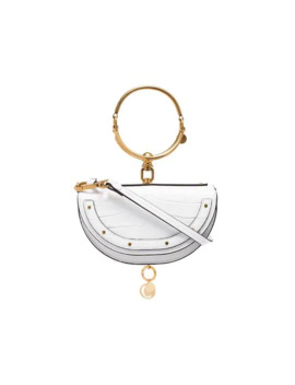 White Nile Mini Leather Bracelet Bag by Chloé