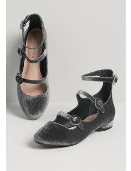 Style On Pointe Velvet Ballet Flat by Chelsea Crew