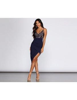 Simply Stunning Asymmetrical Mini Dress by Windsor