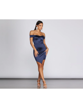 Seriously Satin Mini Wrap Dress by Windsor