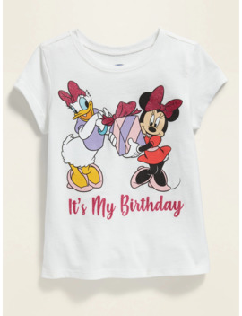 "Disney© Minnie Mouse & Daisy Duck ""It's My Birthday"" Tee For Toddler Girls by Old Navy"