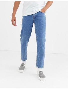 Asos Design   Klassieke Stijve Jeans Met Blauwe Wassing by Asos Design