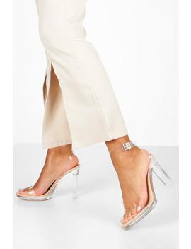 Clear Platform Two Part Heels by Boohoo