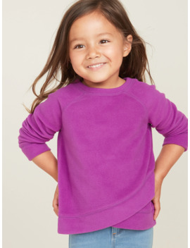 Micro Performance Fleece Surplice Hem Top For Toddler Girls by Old Navy