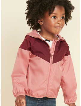 Hooded Color Blocked Windbreaker For Toddler Girls by Old Navy