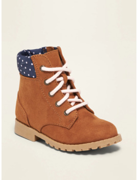 Faux Suede Hiking Boots For Toddler Girls by Old Navy