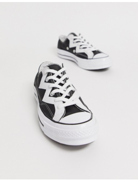 Converse   Chuck 70 Voltage   Sneakers Basse In Pelle Nera Con Zig Zag by Converse