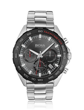 Chronograph Watch With Integrated Tachymeter And Link Strap by Boss