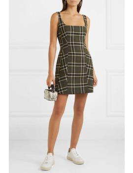 Plaid Twill Mini Dress by Alexachung