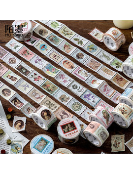 Vintage Post Office Series Bullet Journal Washi Tape Retro Stamps Coffee Decorative Adhesive Tape Diy Scrapbooking Sticker Label by Ali Express.Com