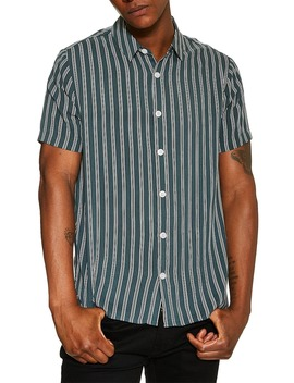 Short Sleeve Stripe Slim Fit Shirt by Topman