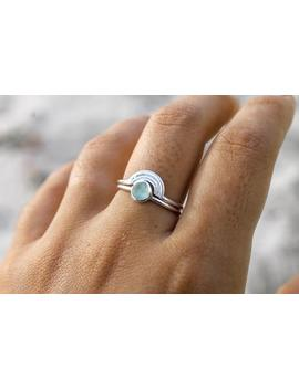 Silver Rainbow Ring Set by Etsy