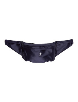 Navy Satin Classic Fanny Pack by Opening Ceremony