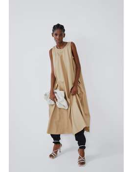 Midi Dress With Pockets Join Lifewoman Cornershops by Zara