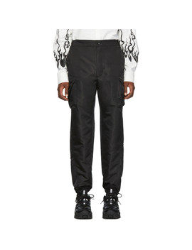Black Dimensional Out Pocket Cargo Pants by D.Gnak By Kang.D