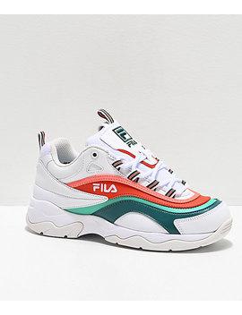 Fila Ray Miami White, Storm & Cherry Tomato Shoes by Fila