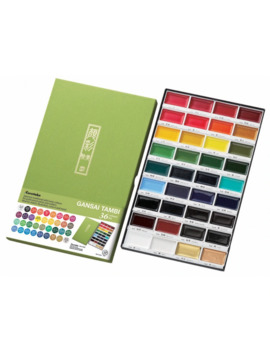 Zig Kuretake High Quality 12/18/24/36 Colors Solid Watercolor Paint Set Watercolors Field Sketch Set For Painting Art Supplies by Ali Express.Com