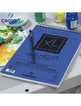 16 K Canson Xl Mix Media Pad Drawing Paper Watercolor Gouache And Acrylic Sketching Spiral Bound Medium Grain 300 G 25 Sheets by Ali Express.Com