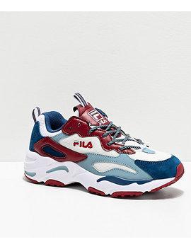 Fila Ray Tracer Blue & Maroon Shoes by Fila