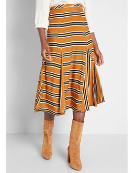 Stripe Appeal Midi Skirt by Louche
