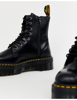 Черные ботинки на платформе с 8 парами люверсов Dr Martens Jadon by Dr Martens