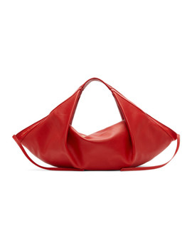 Red Mini Luna Slouchy Hobo Tote by 3.1 Phillip Lim