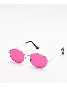 Motohead Purple & Gold Sunglasses by I Sea