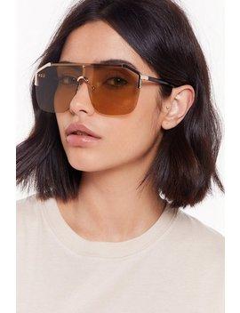 So Shady Oversized Aviator Sunglasses by Nasty Gal