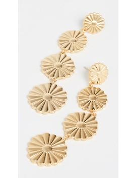 Metal Flower Drop Earrings by Madewell