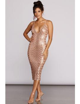 Alana Formal Sequin Midi Dress by Windsor