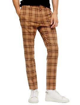 Penny Check Print Slim Dress Pants by Topman