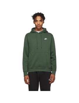 Green Fleece Sportswear Club Hoodie by Nike