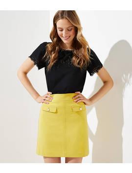 Flap Pocket Shift Skirt by Loft