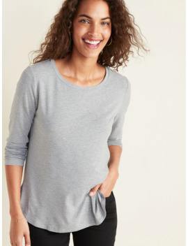 Luxe Long Sleeve Hi Lo Hem Tee For Women by Old Navy