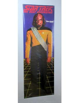 Huge Rare Original 1993 Star Trek The Next Generation Tng 74 X 26 Inch Tv Series Lt Worf Door Poster: Scarce Giant Size 1990's Tv Show Pinup by Etsy