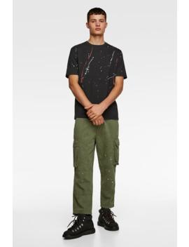 Paint Splatter Print T Shirt Printed T Shirts Man by Zara