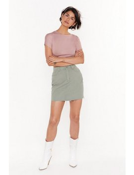 Nothing Left To Fray Distressed Denim Skirt by Nasty Gal
