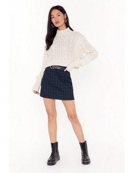 Stop Checking Up On Me Tartan Mini Skirt by Nasty Gal