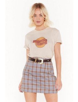 School's Out Check Mini Skirt by Nasty Gal